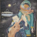 Lillebjorn Django painture oil painting