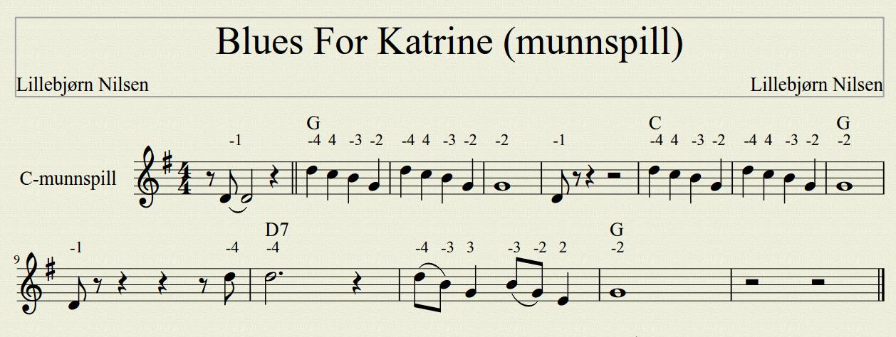 Blues For Katrine (munnspill) Lillebjørn Nilsen