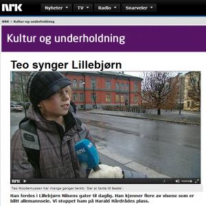 NRK: Teo synger Lillebjørn