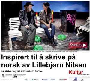 Elisabeth Carew inspirert av Lillebjørn Nilsen